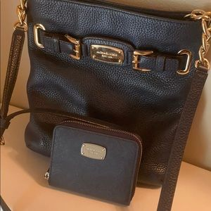 Michael Kors leather crossbody bag and wallet
